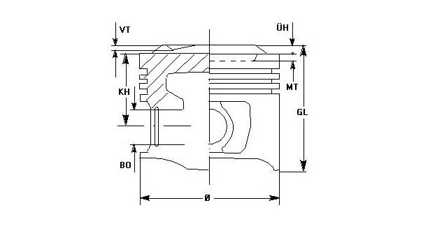 Размеры поршня в двигателе M10