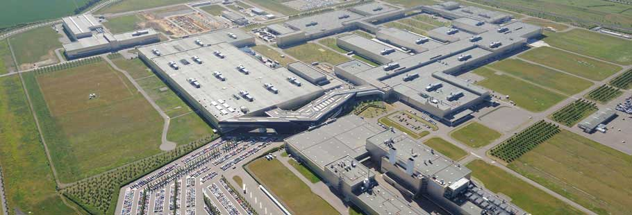 Фото завода БМВ в Лейпциге