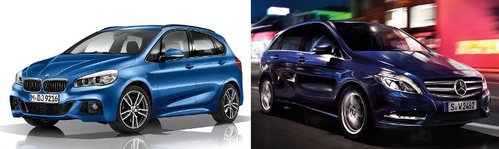 BMW Active Tourer F45 vs MB B-Class
