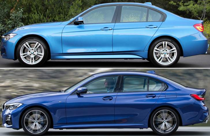 BMW F30 vs BMW G20 - sboky