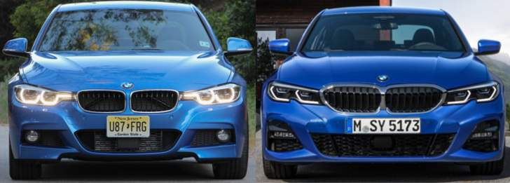BMW F30 vs BMW G20 - speredi