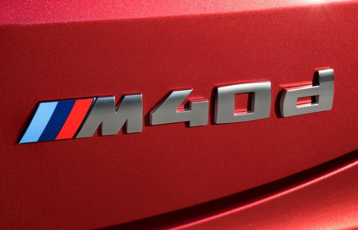 Шильдик M40d на BMW X4 G02