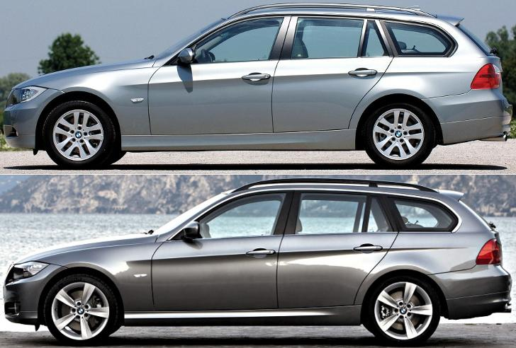 BMW E91 - отличия седана - до и после рестайлинга LCI