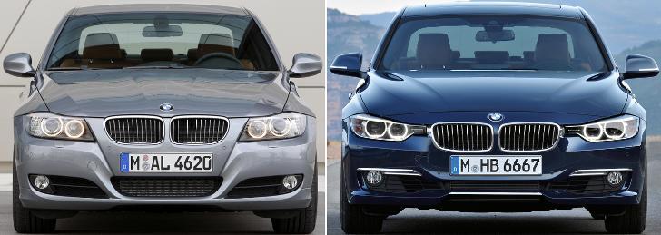 BMW E90 vs BMW F30 - overview