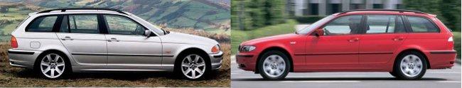 Обновление BMW 3 Series E46 Touring - вид сбоку