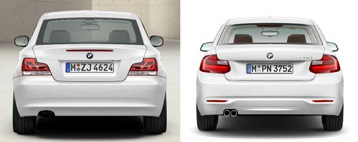 BMW E82 против BMW F22