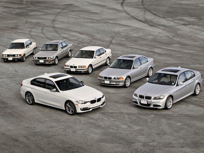 Шесть поколений БМВ 3 серии
