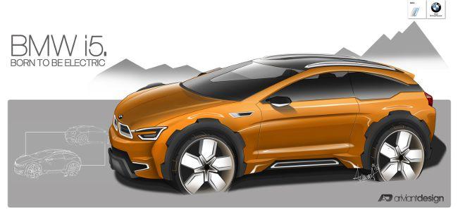 Проект BMW i5 с помощью фотошопа