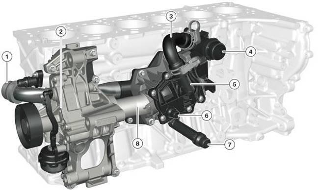 Модуль масляного фильтра двигателя B58