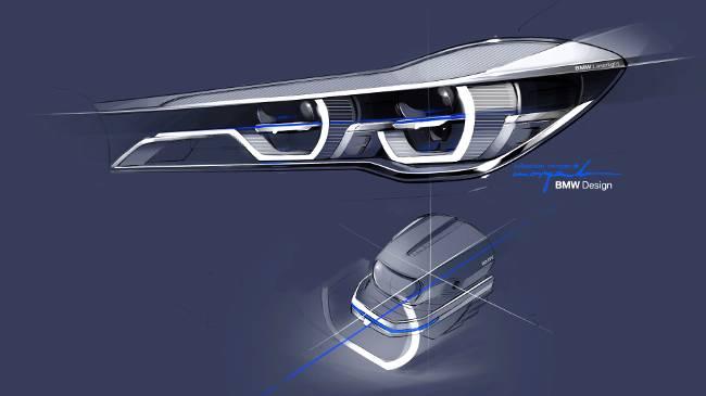 Передняя оптика BMW G11 7 Series - эскиз