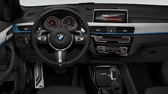 Салон BMW X1 F48 с пакетом M Sport Package