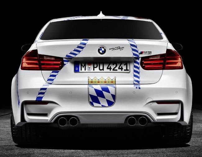 BMW M3 Munchner Wirte F80 - вид сзади