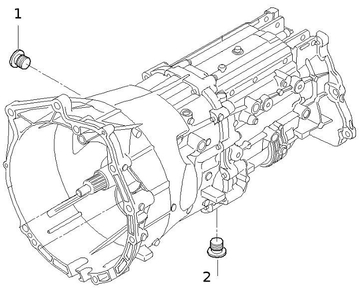 Сливная и заливная горловины в Мех.КПП БМВ Х5 Е53
