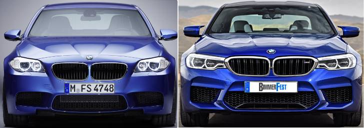 BMW M5 F10 vs F90