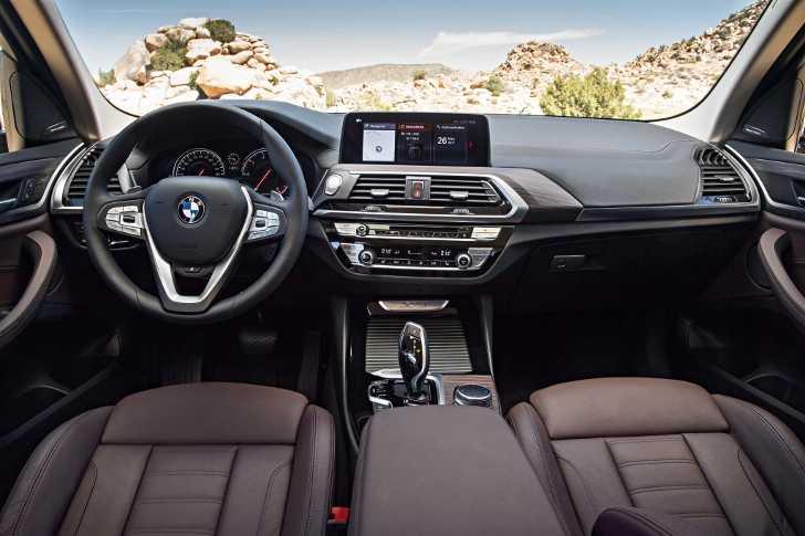 Интерьер BMW X3 xDrive30d G01 с пакетом xLine