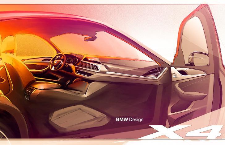 Дизайнерский рисунок BMW X4 G02