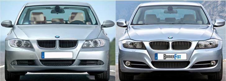 BMW E90 - отличия седана - до и после рестайлинга