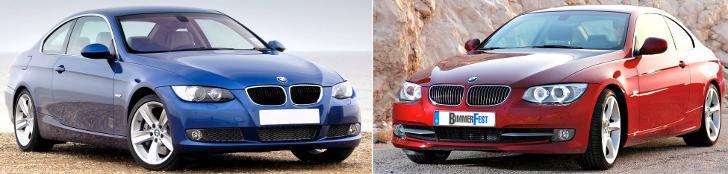 BMW E92 - отличия седана - до и после рестайлинга LCI