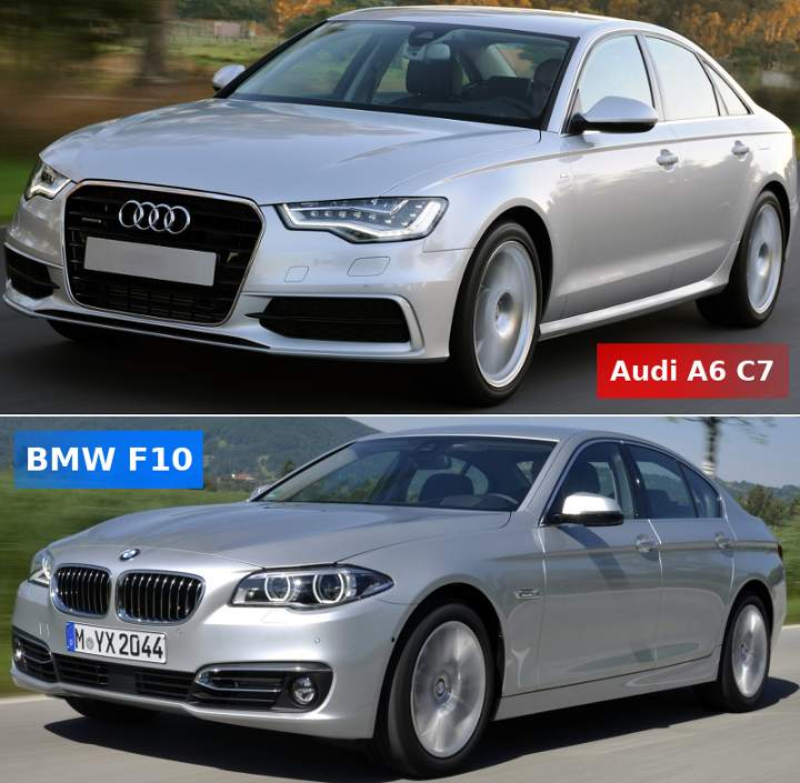 Audi A6 C7 vs BMW F10 5 Series - что выбрать